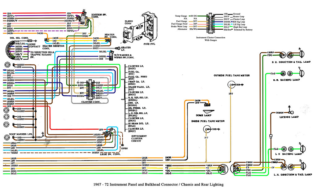 1967-72 Chevy Truck Cab And Chassis Wiring