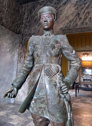 The Royal Tomb of Khai Dinh in Hue, Vietnam: Statue of the King