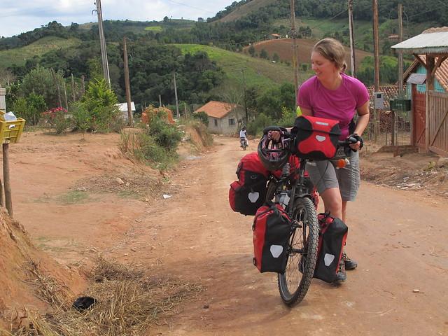 Pushing through a Brazilian village
