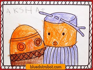 Digit & Boo, coloring by Akshat