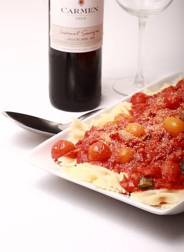 Bacon & cherry tomato pasta