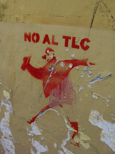 "Old Town Qutio, Ecuador: ""No to TLC"" stencil [2007-2008]"