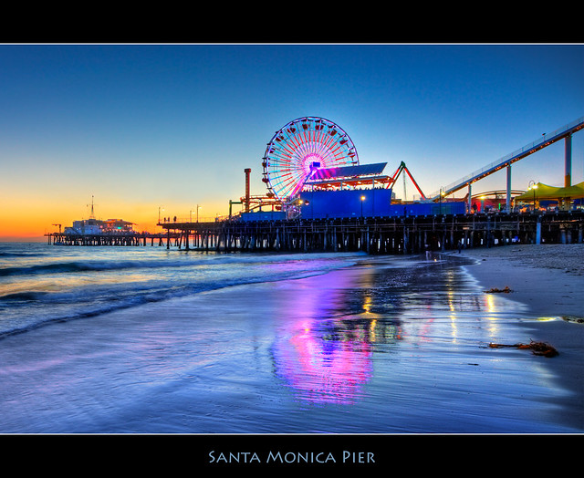 Santa Monica Beach Reflections
