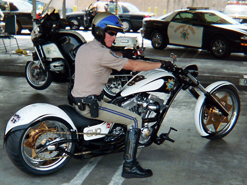 Cops Police Motorcycle Boot
