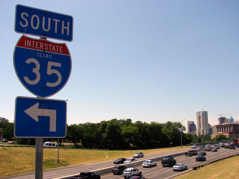 Interstate 35, Texas, Austin, Riverside