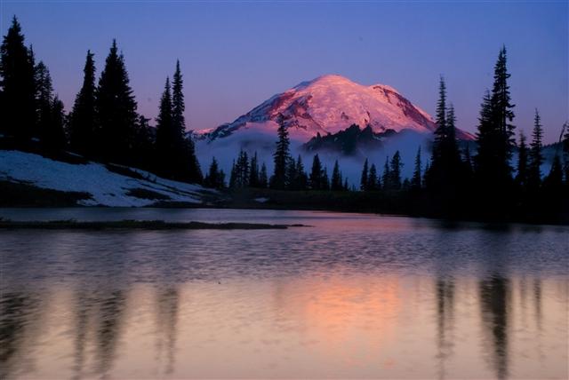 Mt Rainier in the morning light!