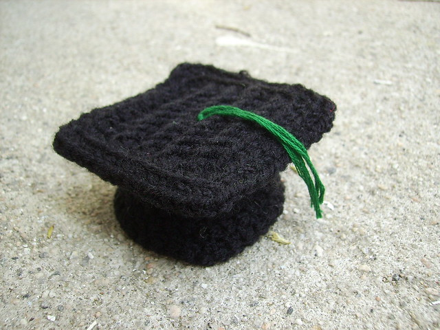 Crochet graduation cap.