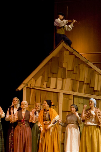 Fiddler on the Roof by Distant Window