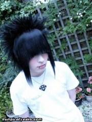 crazy emo boy hair