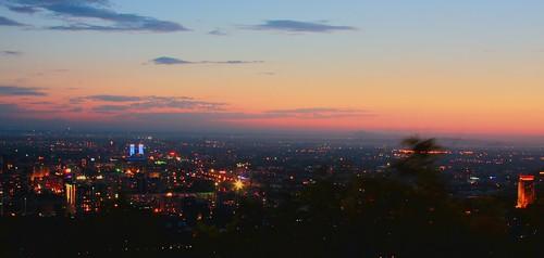 Sunset in Almaty