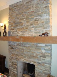 fireplace slate tile