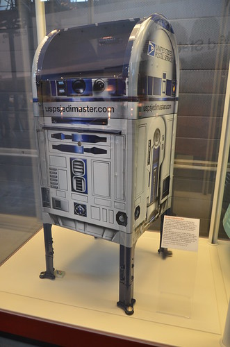 Steven F. Udvar-Hazy Center: Space exhibit, Star Wars R2-D2 themed US Post Office mailbox