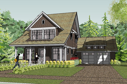 Bayport Bungalow House Plan Rendering