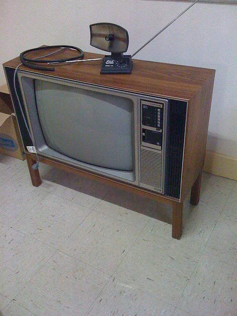 Old Fake Wood TV