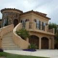 California castle house with grand stairway encinitas california