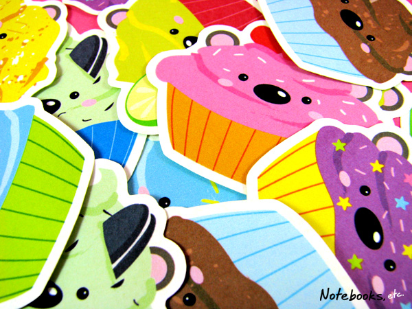 Cupcake Bears stickers!