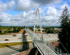 Cupertino Mary Avenue bike bridge
