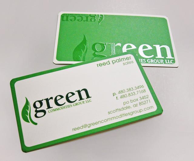 Green---Silk-business-Cards,-Spot-Gloss