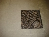 Asbestos Floor Tile & Black Mastic - Wear Damage | Example ...