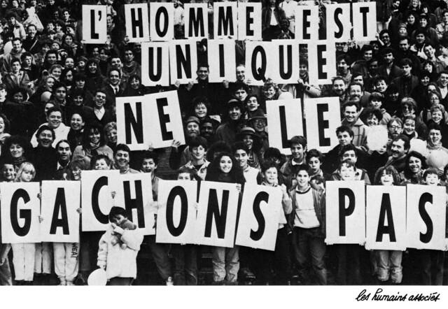 Grandes campagnes d'affichage gracieuses des Humains Associés (1987 / 1990)