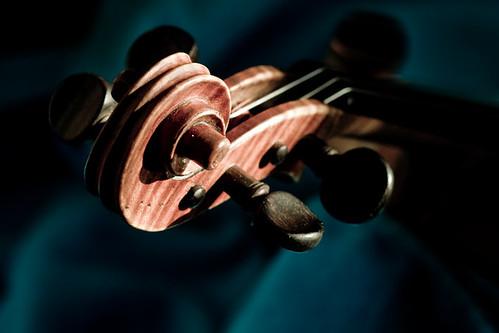 Nervis Villalobos-violin scroll