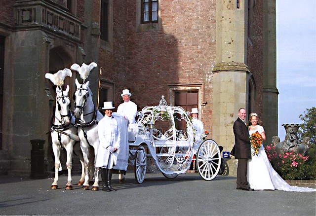 Horse and Glass Cinderella Pumpkin Carriage Hire Birmingha