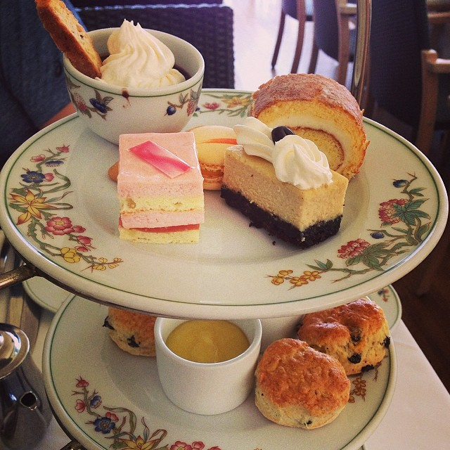 Afternoon tea at the Moana Surfrider.