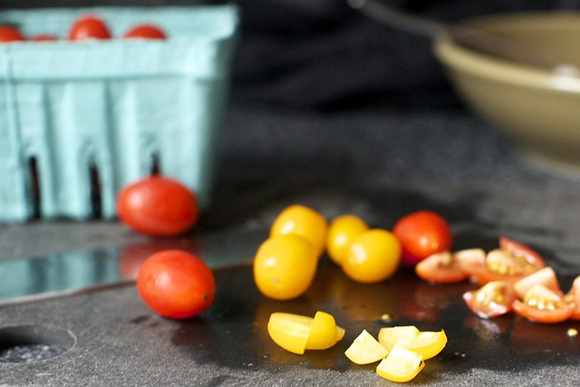 chop this: small tomatoes or big
