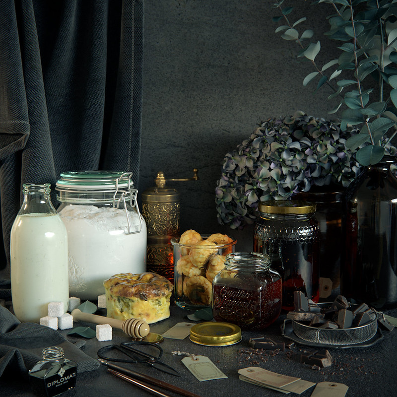 Still Life With Honey (V-Ray)