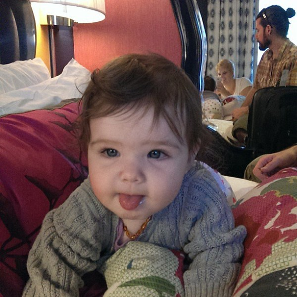 Hotel baby #tinybuttonsblog