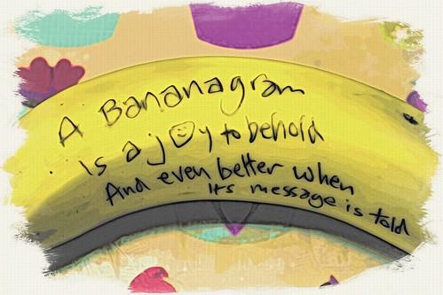 Bananagram side A moku hanga