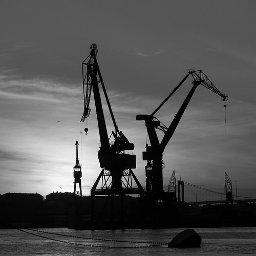 Week 43/52 - Harbour cranes by Flubie