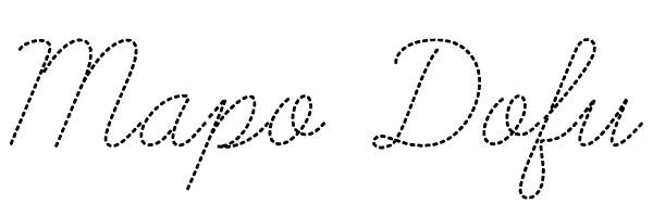 Mapo Dofu text