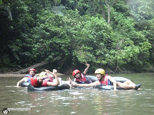 tubing at temburong national park