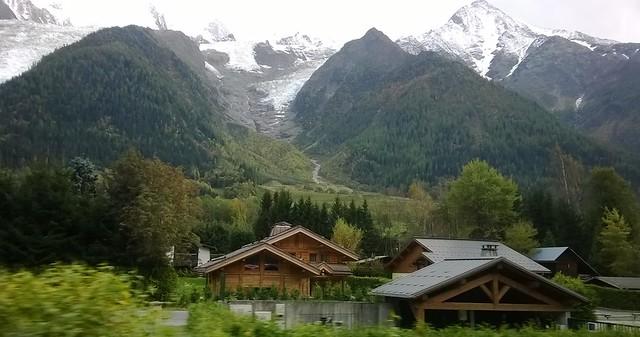 home on way to chamonix mont  blanc train