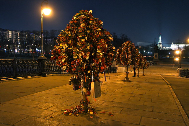 Love locks in Moscow.