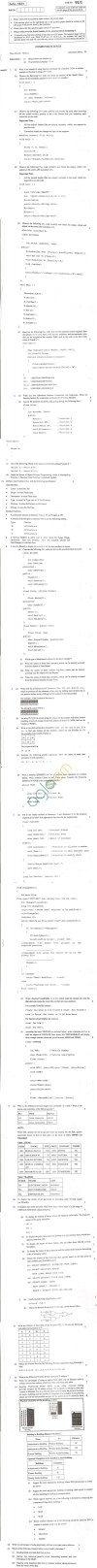 CBSE Board Exam 2013 Class XII Question Paper - Computer Science