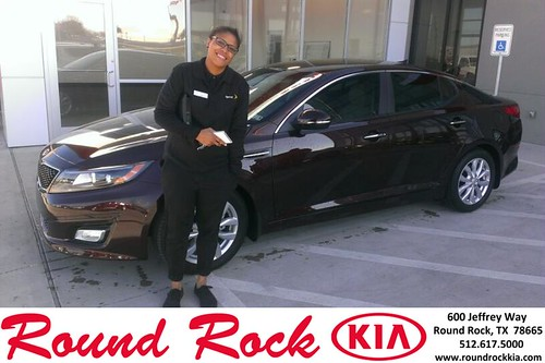 Thank you to Jamaica Jackson on your new 2014 #Kia #Optima from Jeremy Vasquez and everyone at Round Rock Kia! #NewCar by RoundRockKia