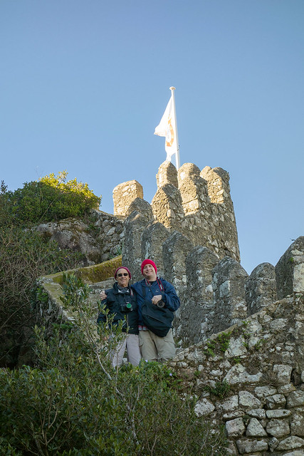 Matt and his dad at Castelo dos Mouros.
