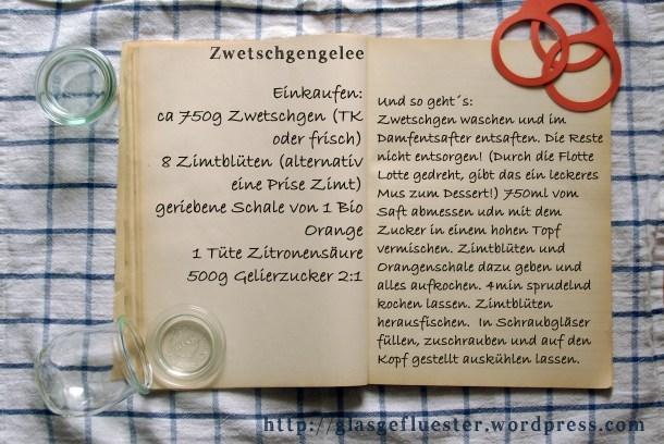 Einkaufszettel Pflaumengelee by Glasgefluester