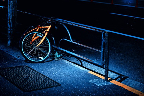 Bicycle in the Dark by hidesax