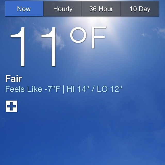 This is the coldest weather I've been in over 20 years. #holyshit #notinfl