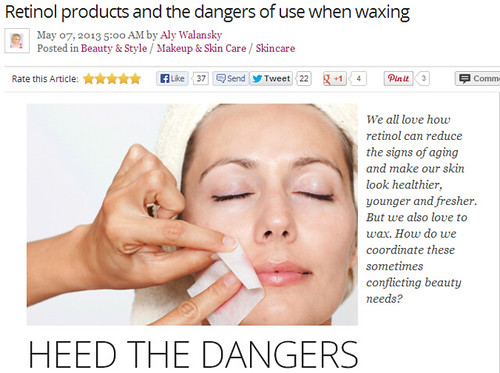 Joel Schlessinger MD warns about the use of retinol prior to waxing