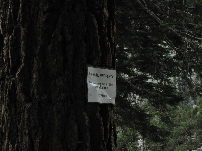 The Ski Hut web site (and the signs nailed to the trees) said that it was private property