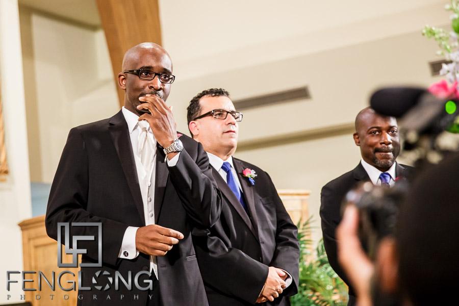 Bride walks down the aisle at North Atlanta SDA Church