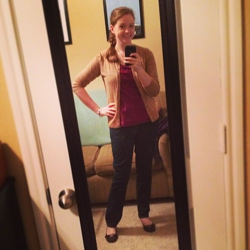 Yay hooray, it's a casual Fribsday #ootd! Top and cardigan: Target; jeans: ON