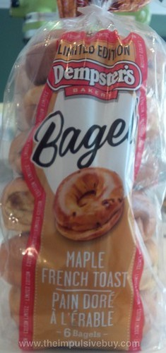 Dempster's Limited Edition Maple French Toast Bagels