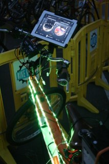 Mark's crazy sound system mixer bike