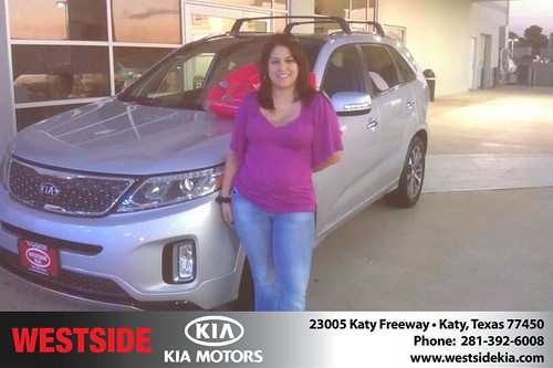 Thank you to Vidal Rivera on your new 2014 #Kia #Sorento from Orlando Baez and everyone at Westside Kia! #NewCar by Westside KIA