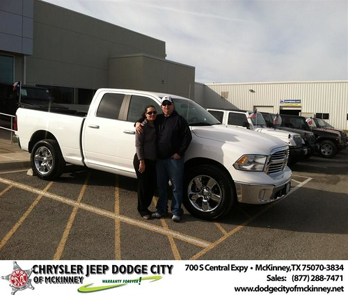 Thank you to Raymond Dennis on your new 2014 #Ram #1500 from George Rutledge and everyone at Dodge City of McKinney! #NewCarSmell by Dodge City McKinney Texas